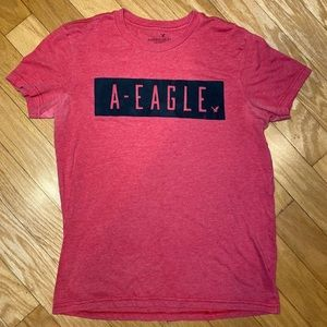 American Eagle red  tee shirt